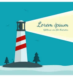 Lighthouse in flat design vector image vector image