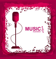 Music design template vector