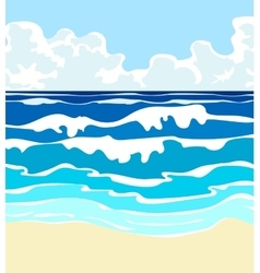 ocean with waves vector image vector image