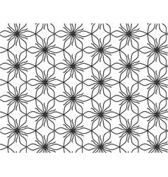 Outline floral pattern vector image vector image