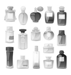 Perfume bottle set vector image