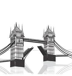 Tower Bridge London hand drawn vector image
