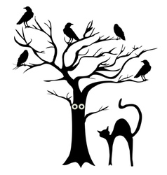 Tree crows vector