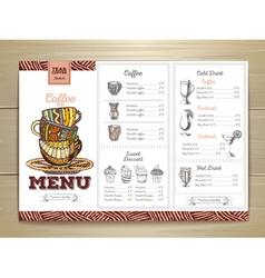 Vintage coffee menu design vector image vector image