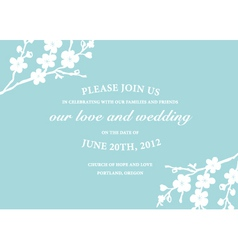 Wedding invite vector