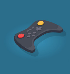 wireless joystick or video game controller icon vector image