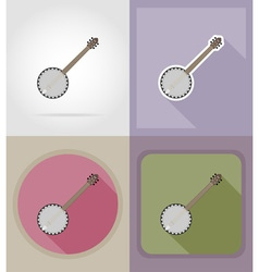 Music items and equipment flat icons 08 vector