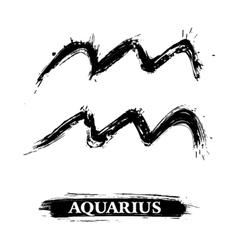 Aquarius symbol vector image