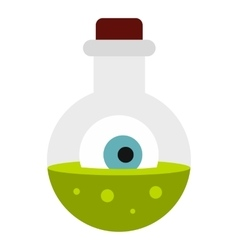 Potion in flask icon flat style vector