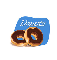 poster template with donuts vector image