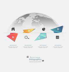Modern infographic templates for business vector