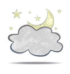 Climate cloud and moon vector