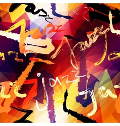 Jazz music pattern vector image