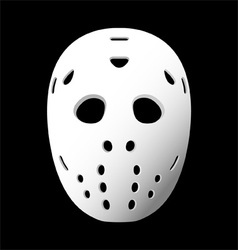 goalie mask vector image
