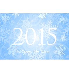 2015 Happy New Year background with snowflakes vector image