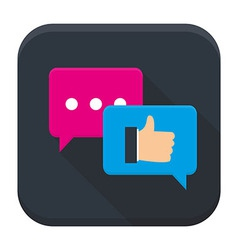 Testimonials app icon with long shadow vector
