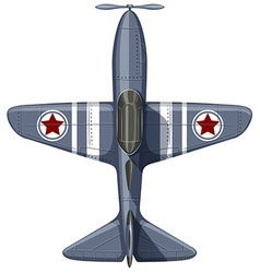 War plane on white vector