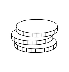 Coins line icon vector