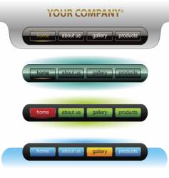 Editable website buttons vector