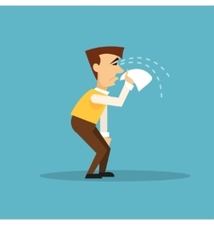 Crying businessman vector image