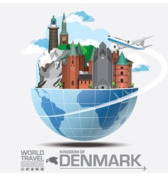 Denmark landmark global travel and journey vector