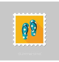 Flip flops flat stamp summer vacation vector
