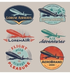 Air badges color vector