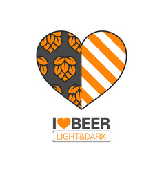 beer logo love concept design background vector image vector image