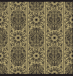 black and golden ancient retro seamless vector image vector image