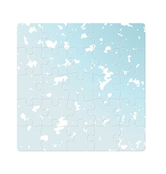 blue puzzle fields vector image