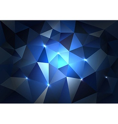 Blue Triangles Dark vector image vector image