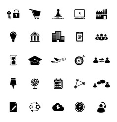 Business connection icons on white background vector image vector image