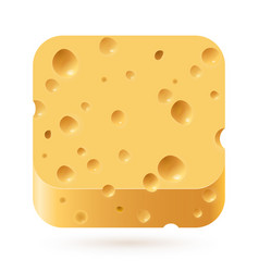 Cheese icon on white background for creative vector