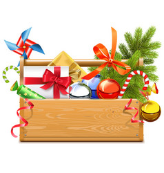Christmas Toolbox vector image