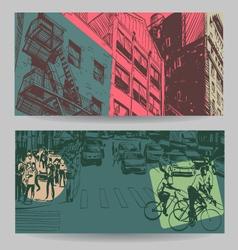 City banner design elements set vector image vector image