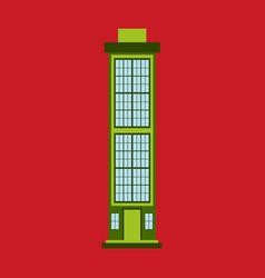 city skyscraper building urban design element vector image vector image