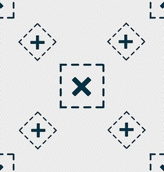 Cross in square icon sign seamless pattern with vector