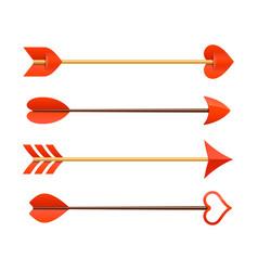 Cupids arrows vector image vector image
