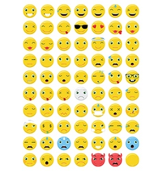 Emoticons emoji set vector
