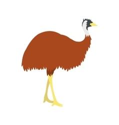 Emu icon flat style vector image vector image