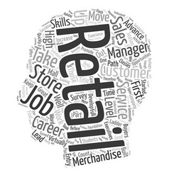 Entry Level Retail Jobs Lead to Lucrative Careers vector image