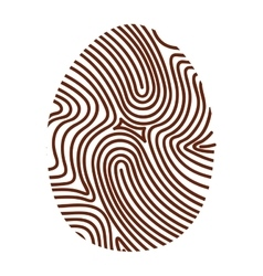 Finger print eco icon vector