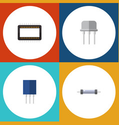 Flat icon appliance set of resist mainframe vector