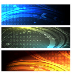 futuristic space banner set vector image