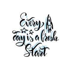 Handwritten motivating quote vector