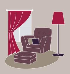 living room corner vector image