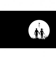 love in moonlight vector image vector image