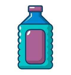 Plastic soap bottle icon cartoon style vector