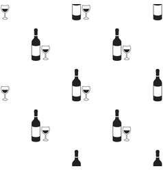 Red wine icon in black style isolated on white vector