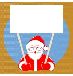 Santa claus comic style on dotted background vector